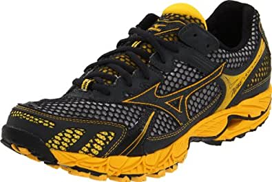 Mizuno Men's Wave Ascend 6 Running Shoe,Anthracite/Anthracite/Spectre Yellow,7.5 D US
