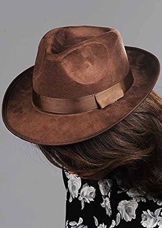 Sombrero de Indiana Jones estilo Fedora marrón  Amazon.es  Juguetes y juegos 5632b2cb621