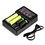 Arlo Battery Charger - Enegitech AA AAA Battery Charger Universal Battery Charger Smart Charger LCD Display for C CR123a RCR123A 16340 18650 NiMH/NiCd Rechargeable Batteries, Battery NOT Included
