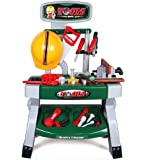 deAO Kids Workbench Tool Set Children Play Tool Kits for Toddlers