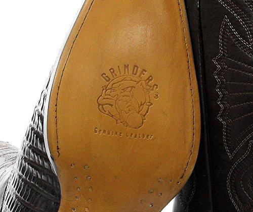 Crocodile WESTREN Carolina Boot Tail Leather boots CROC Grinders Black Cowboy 00narXH