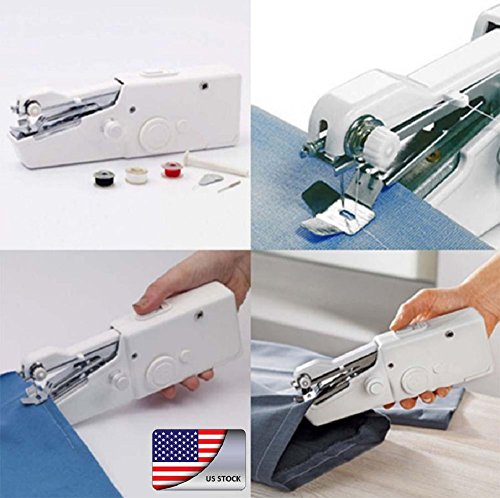 Armyshop Songbird Portable Stitch Sew Hand Held Sewing Machine Quick Handy Cordless Repairs