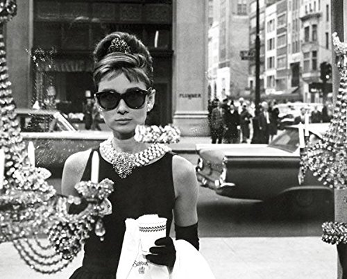 Audrey Hepburn Window Scene Breakfast At Tiffanys Holly Golightly Comedy Movie Film Poster - Tiffany Breakfast Sunglasses At