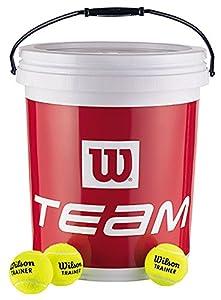 Wilson Tennisbälle Team W Train, gelb, 6, 72 Stück