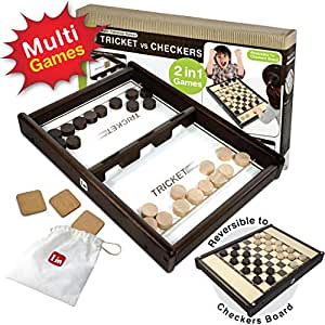 I'm Wooden Tabletop Indoor Portable Board Games for Kids and Family