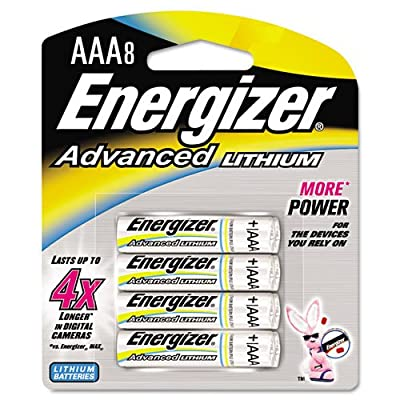 Energizer Ea92bp-8 Aaa Lithium Batteries 8 Count