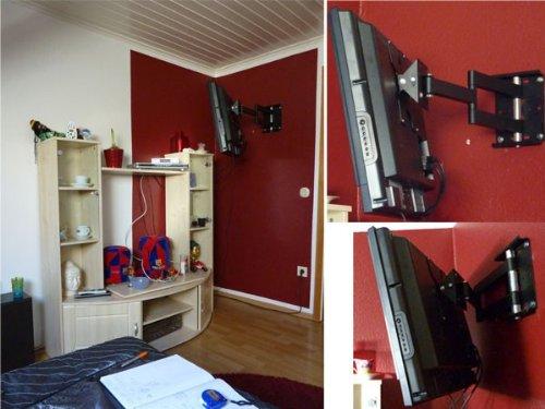 DRALL INSTRUMENTS Soporte de Pared para Monitor Extensible hasta 65 cm Soporte de Pared 26 27 28 30 32 37 40 Pulgadas PC TV LCD orientable inclinable Modelo L20