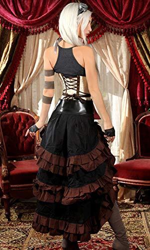 Marron Bordure Noir asymtrique Noire Grosse steampunkcouture Ceinture et Jupe 8XYqRn8