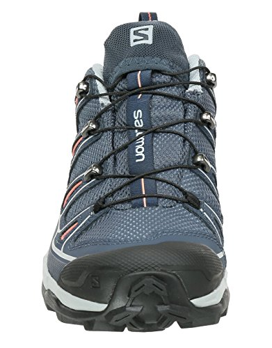 Salomon Damen X Ultra 2 GTX Trekking-& Wanderhalbschuhe GREY DENIM / DEEP BLUE / MELON BLOOM