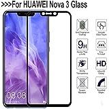 Clorox Tempered Glass 5D Curved Edge 9H Hardness Edge to Edge Glass for Huawei Nova 3 (Black)