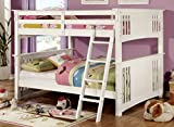 Furniture of America Darvin Full-Full Bunk Bed, White