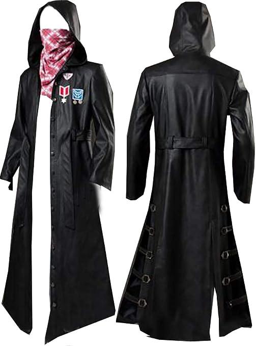 PUBG Playerunknown/'s Battlegrounds Denim Trench Jacket Coat Cosplay Costume