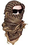 Kingree Military Shemagh Tactical Desert 100% Cotton Keffiyeh Scarf Wrap, Shemagh Head Neck Scarf, Arab Scarf (Brown)