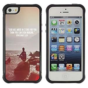 LASTONE PHONE CASE / Suave Silicona Caso Carcasa de Caucho Funda para Apple Iphone 5 / 5S / Quote Religion Epiphany Christian