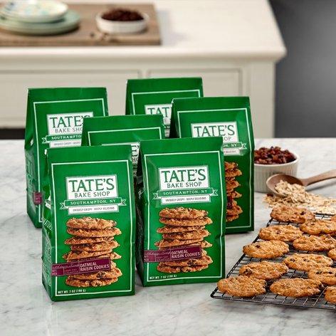 (Tate's Bake Shop 6 Pack Oatmeal Raisin Cookies )