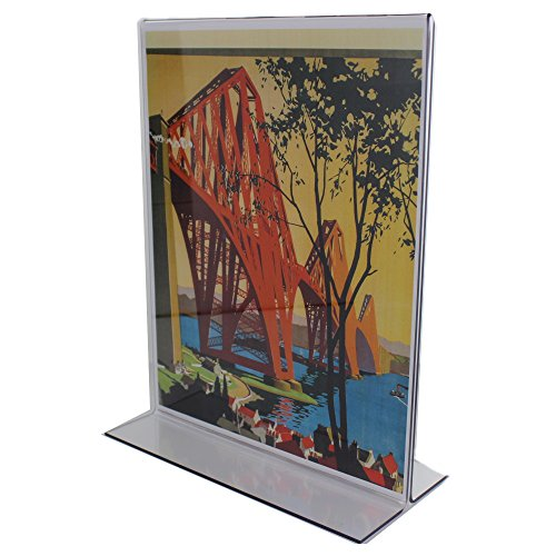 (Casepack of 25) Bottom Loading Double Sided Sign Holder 5''Wx7''H by ShopPOPdisplays.com