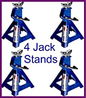 Jack Stands Aluminum Durable Heavy Duty Car Truck Auto 3 Ton 12000lb 2-Pair 4 Capacity - House Deals
