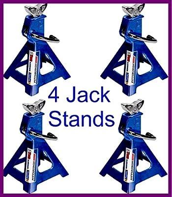 Jack Stands Aluminum Durable Heavy Duty Car Truck Auto 3 Ton 12000lb 2-Pair 4 Capacity - House Deals