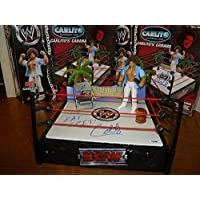 $204 » Carlito's Cabana 4x Signed WWE Action Figure & Toy Ring PSA/DNA COA Autograph - Autographed Wrestling Miscellaneous Items