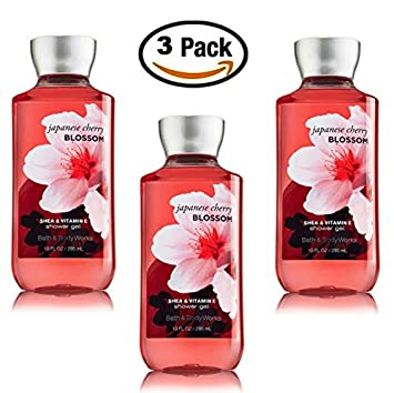 Japanese Cherry Blossom Shower Gel Body Wash – Set of THREE 3 bottles 10 oz ea — Bath Body Works Signature Collection