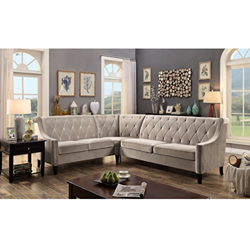 Fanning Sectional Sofas, Milky Beige