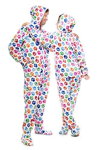Pijama entero con pies para adultos Huellas Caninas Kajamaz: Pijamas enteros con pies para adultos: Amazon.es: Ropa y accesorios