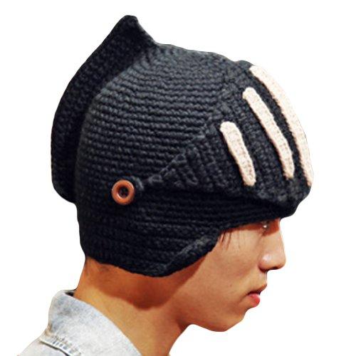 Leegoal Roman Knight Helmet Visor Cosplay Knit Beanie Hat Cap Wind Mask (Hats For Cheap)