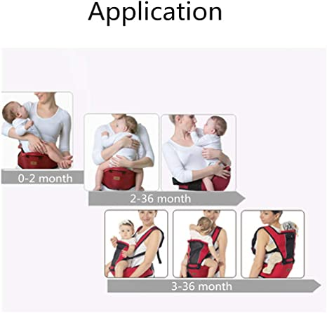 Ynjerae Baby Carrier for Toddler Breathable Adjustable Swaddle Wrap for 0-36 Months Baby