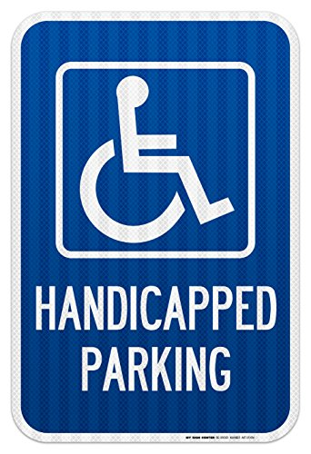 (Handicapped Parking Laminated Sign - 12