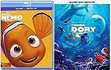 Disney's Finding Nemo (Blu-ray / Digital HD Combo) & Finding Dory (Blu-ray/DVD/Digital HD Combo) 2-Animated Movie Bundle