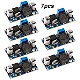FULARR 7Pcs Premium LM2596S DC to DC Buck Converter Set, 3.2-40V to 1.25-35V Step-Down Voltage Regulator, 3A Adjustable Power Supply Step-Down Module