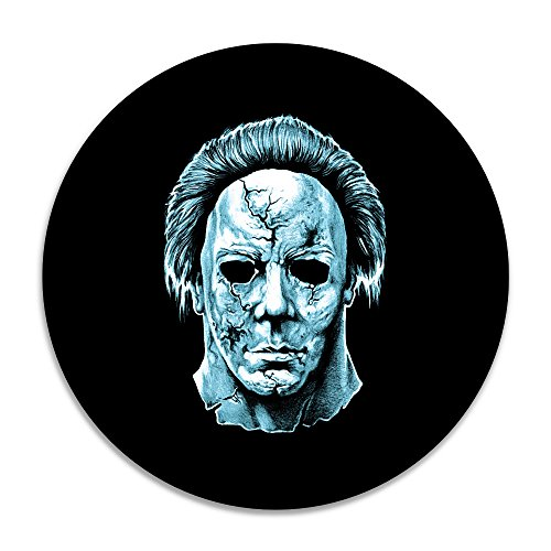[Cool Michael Myers Round Seat Cushion Rug Mats] (Driver Seat Halloween Costume)