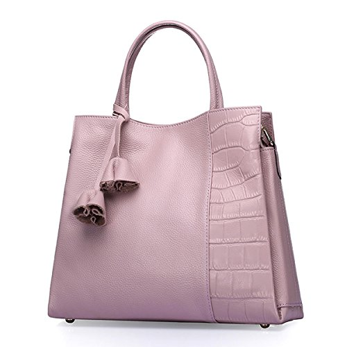 Q0714 Soft Pockets Multiple Handbags Pink Bag Shoulder Leather Dissa Women BESnwqdd