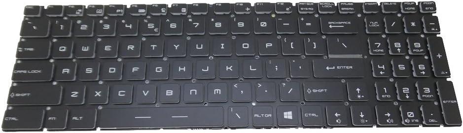 Laptop Keyboard for MSI GT63 GP63 GV62 GF72VR GV72 GV72VR GL62MVR GL63 GL72M GL62 7RE 8RD 7RFX United States US Crystal Keycap Without Backlit New and Original