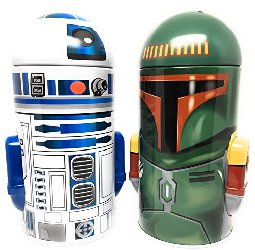 Star Wars R2-D2 and Boba Fett Steel Coin Banks (Total of 2 Banks)