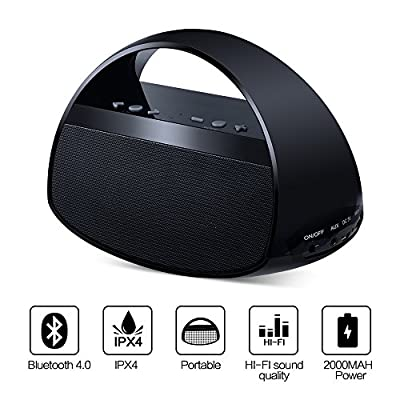 Bluetooth Speaker Portable Wireless Speaker by Funnywhale(Yoga, Long Playtime, Kids,Splash Proof, HD Audio and Enhanced Bass,Beach, Travel, Outdoor,car) Black