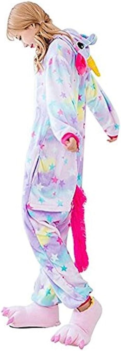 KEYSHINE Kigurumi Pijamas Enteros Animales Adultos Flanela Disfraz Unicornio Mujer Hombre Trajes Cosplay Halloween Carnaval Navidad Festival Animal ...