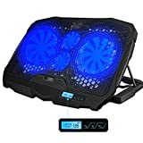 AICHESON Laptop Cooling Pad Blue LED Lights 1.68LB for 10-15.6 PC