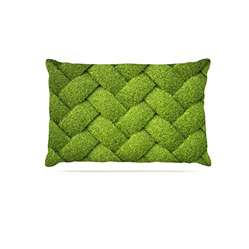 Kess InHouse Susan Sanders Ivy Basket  Fleece Dog Bed, 50 by 60 , Green Weave