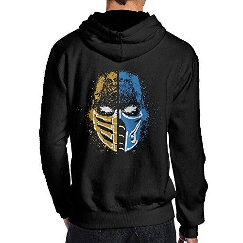 Mortal Kombat Costumes Sonya (UFBDJF20 Scorpion Vs Sub-Zero Mortal Kombat Fleece Hoodie For Men XL Black)