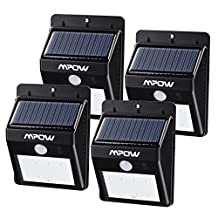 Solar Light,Mpow Solar Power Light Wireless Waterproof 8 LED Security Motion Sensor Night Lighting for Garden,Patio,Deck,Yard,Driveway,Stairs,Outside Wall (4 units)