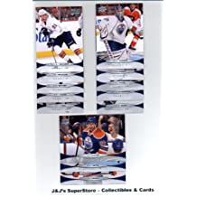 2011 12 Upper Deck Edmonton Oilers Veteran Team Set In Protective Storage Album- 13 NHL Trading Cards with- Taylor Hall, Linus Omark, Sam Gagner, Ryan Whitney and many More