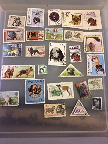 25 Dog stamps, postage stamps, worldwide topical stamp collection