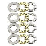 uxcell® F10-18M Miniature Thrust Ball Bearings 10x18x5.5mm Chrome Steel 4pcs