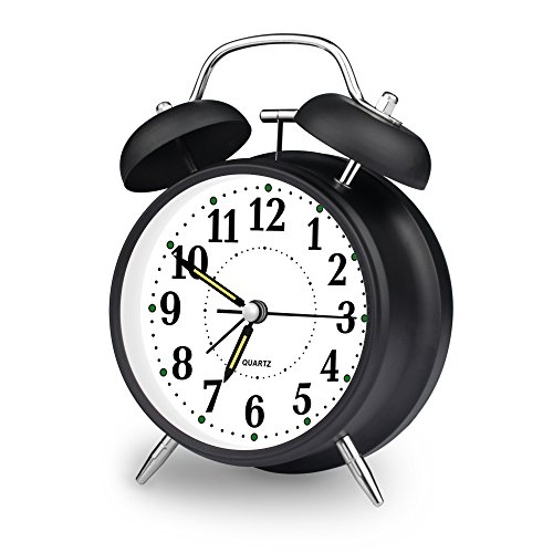 From Usa ★ Ieka Alarm Clock 4 Inch Quartz Analog Twin
