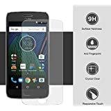 Jarvis™ Tempered Glass Screen Protector Screen to Screen Fit Full 9H Hardness 3D Curved Bubble Free Anti-Scratch HD+ Screen Guard Crystal Clarity 3D Tempered Glass For Moto G5s+ (Transparent)
