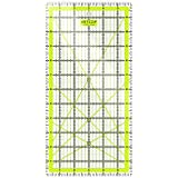 "ARTEZA Quilting Ruler, Laser Cut Acrylic Quilters' Ruler Patented Double Colored Grid Lines Easy Precision Cutting, 6"" Wide x 12"" Long Quilting, Sewing & Crafts, Black & Lime Green"