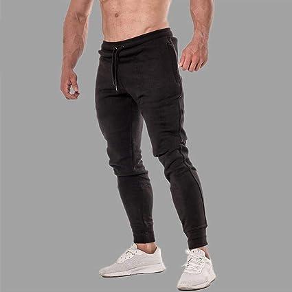 a4959f7a85 Amazon.com: Men Long Sweatpants Casual Comfort Elastic Waist ...