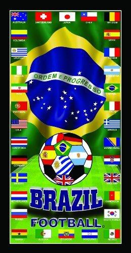 Switzerland Soccer Team Flag Soccer World Cup 2014 Soccer Wonder Beach Towel