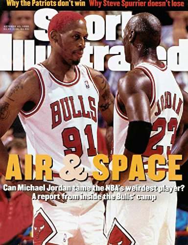 October 23, 1995 Air and Space, Dennis Rodman and Michael Jordan Sports Illustrated Cover 8x10 Photo